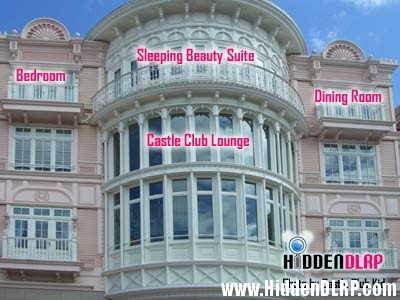 Where is the sleeping beauty suite for Chambre castle club disneyland hotel