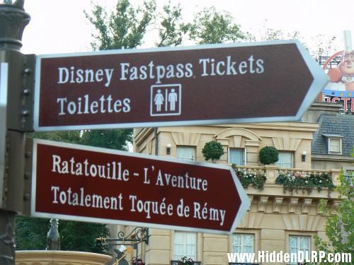 DIsney Fast Pass Toilet
